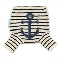 Wool Shorties Diaper Cover - AHOY -  via Etsy.