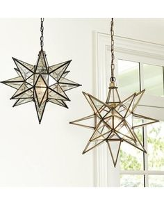 Originally a Christmas decoration from the 19th-century, the Moravian star is still popular today for its strong geometric form and whimsical sparkle. Larger than most pendants out there, Ballard Designs' Moravian Star Pendant is perfect anywhere you want a special focal point.
