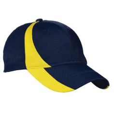 Custom Branded Embroidered Moisture Wicking Cap is a structured 8-panel, mid profile hat with a hook and loop closure, gray underbill for reduced sun glare, and stylish color block design
