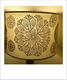 curbside style: Hello again friends, oh and a Crochet Doily Lamp Shade DIY as well.
