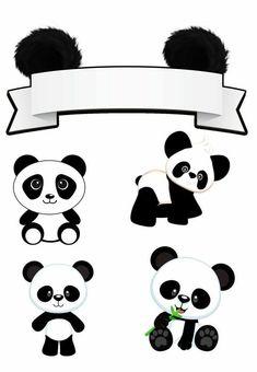 Frame design Panda Birthday Party, Panda Party, Bear Party, Baby Birthday, Panda Png, Birthday Party Decorations, Party Themes, Bolo Panda, Panda Baby Showers