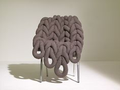 "A Knit Chair!  Claire-Anne O'Brien's ""British Wool Chair"""