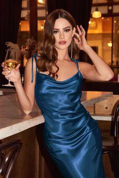 Satin Midi Dress, Satin Dresses, Lace Dress, Long Silk Dress, Formal Midi Dress, Blue Satin Dress, Satin Cocktail Dress, Bridesmaid Dresses, Prom Dresses