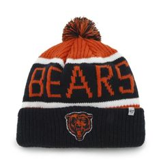 buy popular 07346 75c3e Chicago Bears Calgary Beanie Hat with Pom NFL Cuffed Winter Knit Toque Cap     See this great product.