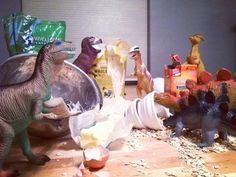"""Awesome Parents Convince Kids Their Plastic Dinosaur Toys Come To Life Every Night In """"Dinovember"""""""
