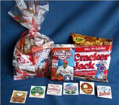 Cracker jack prizes louisville slugger baseball