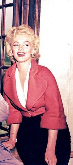 Marilyn during the filming of Niagara, 1952.