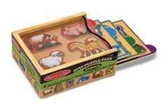 Melissa  Doug Animals Wooden MiniPuzzle Set With Storage and Travel Case >>> Want to know more, click on the image.