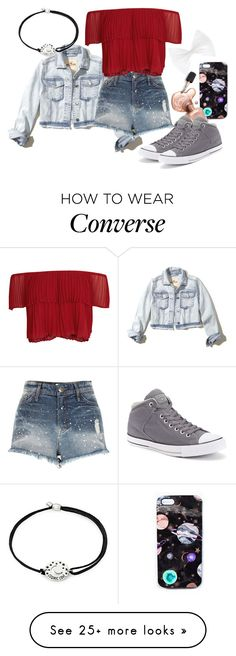 """""""Demigod Daughter Of Night"""" by cfull on Polyvore featuring Hollister Co., River Island, Keepsake the Label, Alex and Ani, Nikki Strange and Converse"""