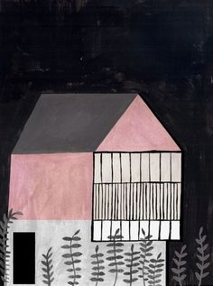 Pink House 3 by Ana Frois illustration digital print by afrois #PINK #HOUSE…