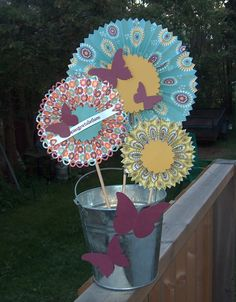 Rosettes created with the Stampin' Up! Designer Rosette Bigz XL die created by Michelle Sturgeon.