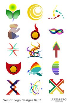 Vector Logo Designs Set 2 by Are Lorenz Bergonia, via Behance
