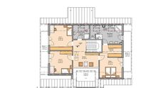 Kern-Haus Familienhaus Maxime Grundriss Dachgeschoss
