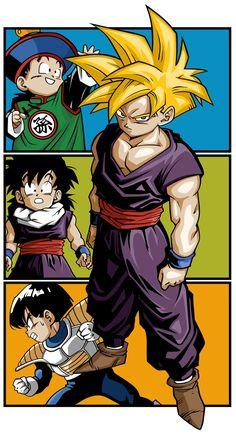 Dragon Ball Z Gohan Super Saiyan. Gohan will always be in my mind the strongest super hero in the world/universe Dragon Ball Z, Anime Echii, Anime Comics, Anime Japan, Digimon, Akira, Comic Art, Animation, Pokemon