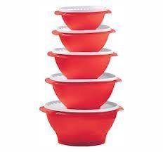 Tupperware 5 Piece Servalier Set, Red by Tupperware. $79.95. Tupperware 5 Piece Servalier Set, Red, One 3 Cup, One 4 Cup, One 8 Cup, One 11 cup, One 17 Cup Bowl, All with white seals.