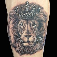 lion with crown tatoos - Google Search