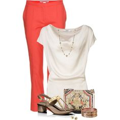 """""""Beige and coral"""" by mommygerloff on Polyvore"""