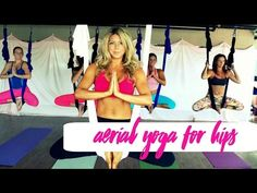 Bound Angle Aerial Yoga Tutorial with Margie Pargie - YouTube