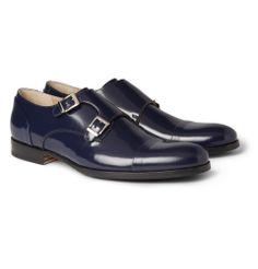 Mr. HareHigh-Shine Leather Monk Strap Shoes|MR PORTER http://www.luxevau.lt
