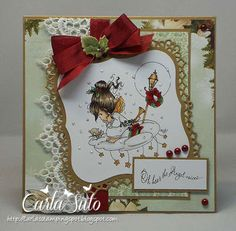 Inspiration from our challenge Entries Christmas Images, Christmas 2015, Christmas Angels, Handmade Christmas, Christmas Crafts, House Cards, Colouring Pics, Hobby House, Winter Ideas