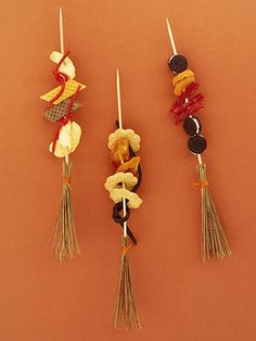 Witch Kabobs, I used fruit for mine!  So cute!