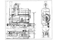"18"" Gauge locomotive plan, Crewe Works, England"