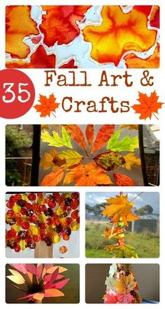 Some of the cutest and easy to set up fall art projects and fall crafts for kids all ages - some fall activities and learning ideas thrown in as well. #fallcraftsforkids #fallactivities