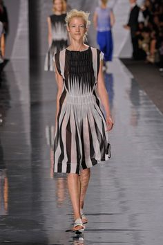 Issey Miyake Spring 2013- innovative use of the classic stripe
