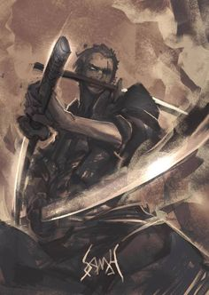 Roronoa Zoro... I kinda want to try and draw this character .u. -Will
