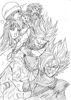 """Spirit Sword!"" Drawn by: Young Jijii! Found by: Son Goku (Kakarot) #SonGokuKakarot - Visit now for 3D Dragon Ball Z compression shirts now on sale! #dragonball #dbz #dragonballsuper"