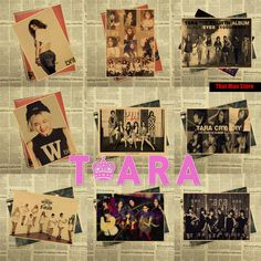 T-ara sexy gril Park Ji Yeon / Park Hyo Min Korean Asian music Vintage Kraft Paper Poster Print art Wall Decor 42X30cm