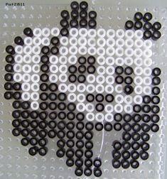 Perles Hama : Panda