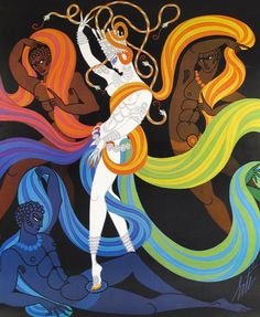 Illustration by Erte For 'Lyric Opera' poster 1968