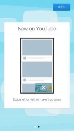 YouTube update walkthrough screens