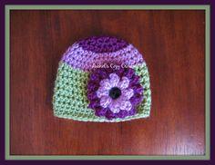 Baby Girl SpringEaster Flower Embellished by RachelsCozyCrochet