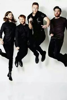 Imagine Dragons High school musical style. Wayne is like Sharpay jumping in heels. Lol luv it!
