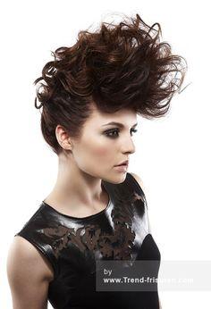 Hairaisers Lange Braun Weiblich Wellig Spikey Hochsteckfrisur Frauen Frisuren hairstyles