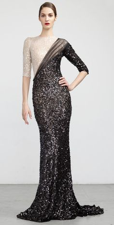 Abed Mahfouz FW 2012-13 :: black & white sequins