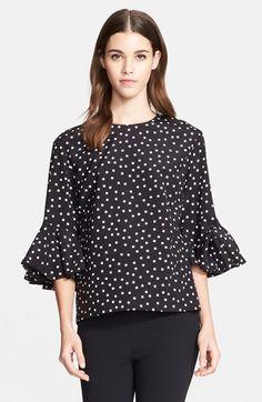 Dolce&Gabbana Polka Dot Silk Blouse available at #Nordstrom