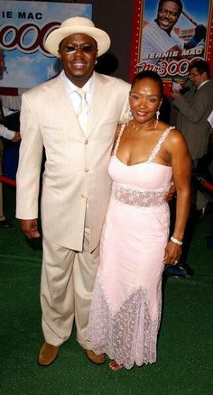 The late Bernie Mac & wife Rhonda Beautiful Family, Simply Beautiful, Famous Black People, Bernie Mac, Behind Every Great Man, Black King And Queen, We The Kings, Growing Old Together, Couples In Love