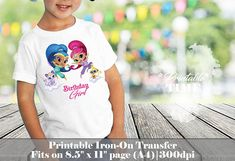 Shimmer and Shine Iron on Transfer Printable iron on transfer