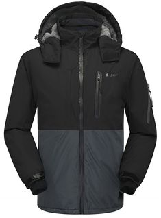 7ddf38545e1ec Men s Winter Waterproof Windproof Outdoor Ski Coat Snow Fleece Jacket -  Black 001 - CT182LY6KDY