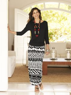 9 to 5abulous – Maxi Skirt #chicos  Perfect for Sunday Mass at the Basilica of St. Marks
