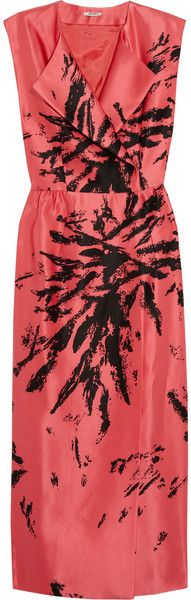 cdc058bce89 Miu Miu Printed Wrap Dress - Lyst Pablo Neruda