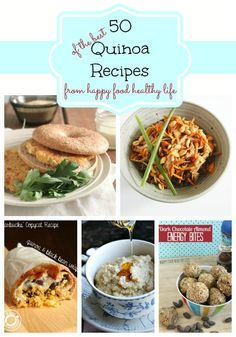 A Roundup of 50 of the Best Quinoa Recipes compiled by www.happyfoodhealthylife.com?utm_content=bufferc150b&utm_medium=social&utm_source=pinterest.com&utm_campaign=buffer