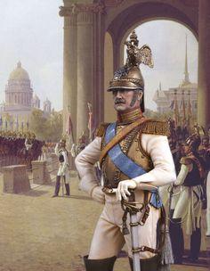 Николай I, император Всероссийский, 1825-1855. Парад на Дворцовой площади в Санкт-Петербурге.