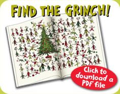 Copy this and have kids do it in the car on way to surprise Grinch musical