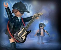 """ACDC design by Richard Unglik Coming october 2015 in his next book: """"Rock Around Playmobil""""."""