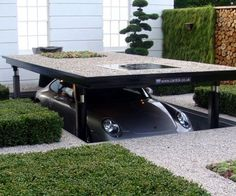 With this custom built underground parking dock system you can keep your expensive cars hidden from thieves, save space in your driveway, and protect your cars from the harsh outdoor elements that will wear down that fresh exterior.