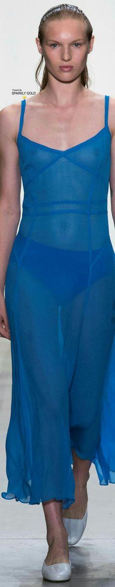 Ny Fashion Week, Fashion 2018, Blue Crush, Prabal Gurung, Shades Of Blue, Spring, Clothes, Collection, Dresses